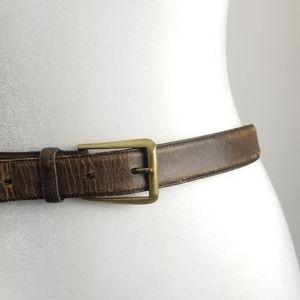 Burberry Mens Genuine Leather Brown belt 38